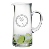 Custom Coordinates Island Palm Large Pitcher