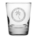 Custom Coordinates Island Palm DOF Glasses Set of 4