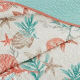 Pebble Beach Quilted Coverlet Queen Size Set close up coverlet