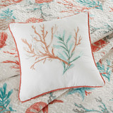 Pebble Beach Quilted Coverlet King Size Set decorative pillow 2