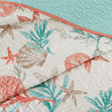 Pebble Beach Quilted Coverlet King Size Set close up coverlet