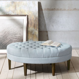 Martin Beach Light Blue Surfboard Tufted Ottoman beauty
