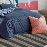 Hang Ten Navy Stripes Horizons Rug room view