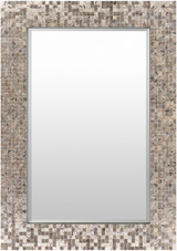 Large Mother of Pearl Shell Framed Mirror