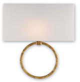 Gold Leaf Porthole Wall Sconce Lighting