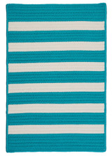 Turquoise Stripe It Rug