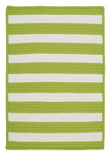 Bright Lime Stripe It Rug