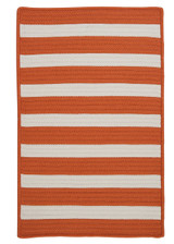 Tangerine Stripe It Rug