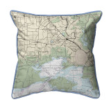 Vermilion Bay, LA Nautical Map 22 x 22 Pillow
