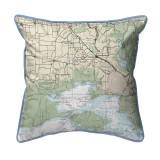 Vermilion Bay, LA Nautical Map 22 x 22 Pillow