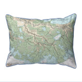 New Orleans to Calcasieu River, LA Nautical Map 20 x 24 Pillow
