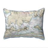 Orange Beach Alabama Nautical Chart 24 x 20 Pillow