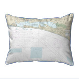 Choctawhatchee Bay Florida Nautical Chart 24 x 20 Pillow