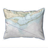 St. George Island Florida Nautical Chart 24 x 20 Pillow