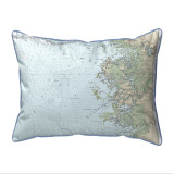 Crystal River Florida Nautical Chart 24 x 20 Pillow