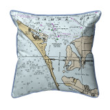 Anna Maria Island, Florida Nautical Chart 22 x 22 Pillow