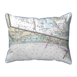 Blackburn Bay Florida Nautical Chart 24 x 20 Pillow