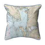 Charlotte Harbor Florida Nautical Chart 22 x 22 Pillow