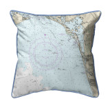 Estero Bay and Bonita Springs, Florida Nautical Chart 22 x 22 Pillow