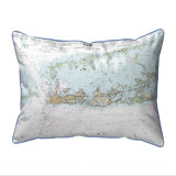 Sugarloaf Key to Key West, Florida Nautical Chart 24 x 20 Pillow