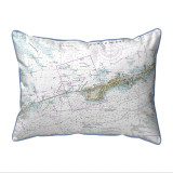 Miami to Marathon  and FLorida Bay Nautical Chart 24 x 20 Pillow