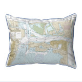 Fort Pierce Harbor Florida Nautical Chart 24 x 20 Pillow