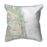 Jacksonville, Florida Nautical Chart 22 x 22 Pillow
