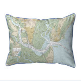 St. Simons Sound Georgia Nautical Chart 24 x 20 Pillow