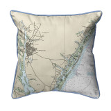 Wilmington - Wrightsville Beach, NC Nautical Map 22 x 22 Pillow