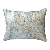 Easton, MD Nautical Map 20 x 24  Pillow