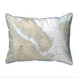 Chesapeake Bay, MD Nautical Map 20 x 24 Pillow