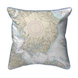 Solomons Island, MD Nautical Map 22 x 22 Pillow