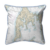 Kent Island, MD Nautical Map 22 x 22 Pillow