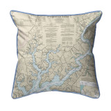 Chester River, MD Nautical Map 22 x 22 Pillow