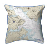 US Naval Academy, MD Nautical Map 22 x 22 Pillow