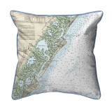 Little Egg Inlet to Hereford Inlet - Avalon, New Hampshire Nautical Chart 22 x 22 Pillow