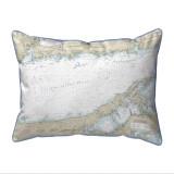 Long Island Sound - Eastern Part, New York  Nautical Chart 20 x 24 Pillow