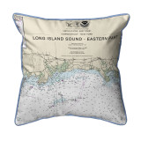Long Island Sound - Eastern Part Detail, New York  Nautical Chart 20 x 22 Pillow