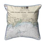 Long Island Sound - Eastern Part Detail, New York  Nautical Chart 20 x 22 Pillow