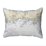 Long Island Sound, New York  Nautical Chart 20 x 24 Pillow