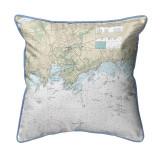 Branford Harbor - Indian Neck, Connecticut Nautical Chart 22 x 22 Pillow