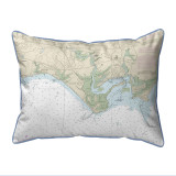 Madison Reef to Kelsey Point, Connecticut Nautical Chart 20 x 24 Pillow