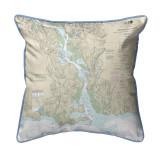 Connecticut River, Connecticut  Nautical Chart 22 x 22 Pillow