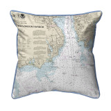 New London Harbor, Connecticut  Nautical Chart 22 x 22 Pillow
