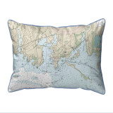 Stonington Harbor Connecticut Nautical Chart 20 x 24 Pillow