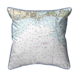 Block Island Sound - Matunuck, Rhode Island Nautical Chart 22 x 22 Pillow
