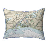 Bass River, MA Nautical Chart 20 x 24 Pillow