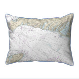 Falmouth Harbor, MA Nautical Chart 20 x 24 Pillow