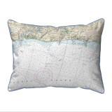 Harwich Port, MA Nautical Chart 20 x 24 Pillow