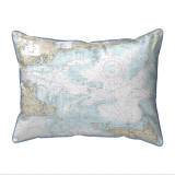 Nantucket Sound, MA Nautical Chart 20 x 24 Pillow